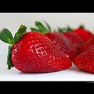 Fragaria x Ananassa - Fresh Garden Strawberries by © Sophie Smith