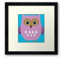 Pink owl  Framed Print
