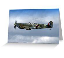 Supermarine Spitfire Mk IX PL344/T-LB G-IXCC Greeting Card
