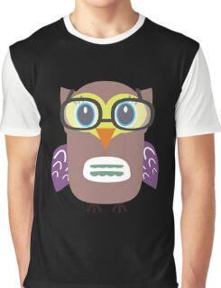 Nerdy owl  Graphic T-Shirt