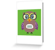 Nerdy owl  Greeting Card