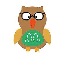 Nerdy owl  Photographic Print
