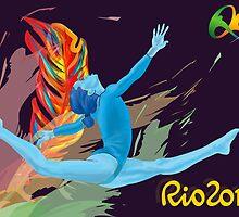Rio Olympics 2016 Gymnast by bubble-emporium