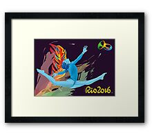 Rio Olympics 2016 Gymnast Framed Print
