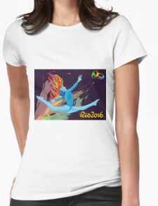 Rio Olympics 2016 Gymnast Womens Fitted T-Shirt