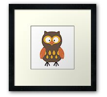 Brown Pumpkin Owl Framed Print