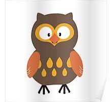 Brown Pumpkin Owl Poster