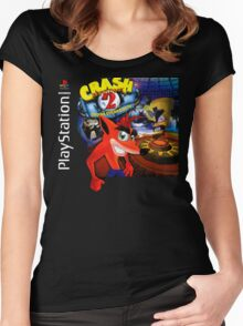Crash Bandicoot 2 Playstation Box Art Shirt Women's Fitted Scoop T-Shirt