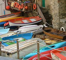 Cinque Terra fishing boats by Susan Glaser
