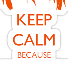 Keep Calm Because Weasley Is Our King Sticker