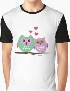 Owl couple Graphic T-Shirt