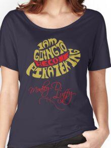 Mugiwara Typography Women's Relaxed Fit T-Shirt