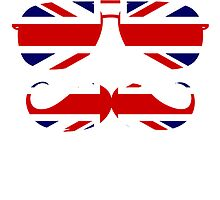 British mustache and glasses by nadil