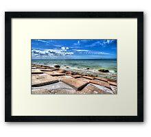 Fort De Soto Park - Beach by the Pier Framed Print