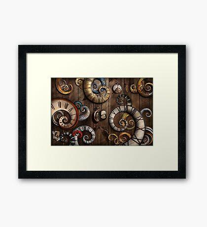 Steampunk - Clock - Time machine Framed Print