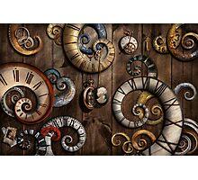 Steampunk - Clock - Time machine Photographic Print