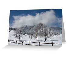 Springtime In Boulder Colorado Greeting Card