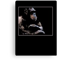 chimp chill Canvas Print