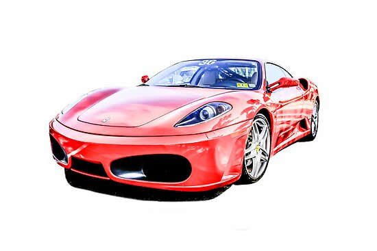 Red Ferrari F430 Italian Sports Car by Chris L Smith