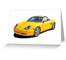 Porsche Boxster s German Sports Car  Greeting Card