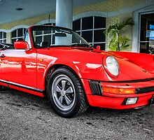 Red Porsche 911 Carerra German Sports Car by Chris L Smith