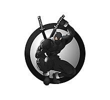 Black Ninja Logo Photographic Print