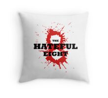 The Hateful Eight logo 8 blood Throw Pillow