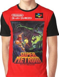 Super Metroid Nintendo Super Famicom Japanese Box Art Shirt (SNES) Graphic T-Shirt