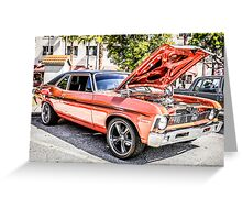 1970 Chevrolet Chevy Nova SS American Classic Car Greeting Card