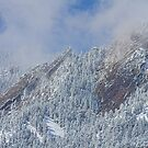 Flatiron Snow Dusting Close Up Boulder Colorado by Bo Insogna