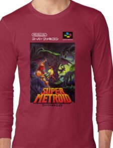 Super Metroid Nintendo Super Famicom Japanese Box Art Shirt (SNES) Long Sleeve T-Shirt