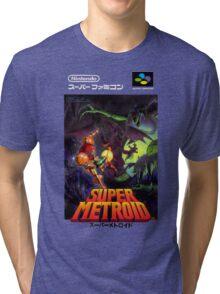 Super Metroid Nintendo Super Famicom Japanese Box Art Shirt (SNES) Tri-blend T-Shirt