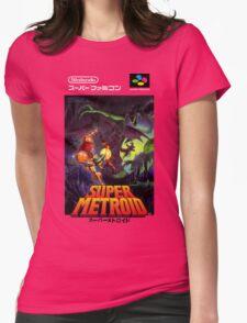Super Metroid Nintendo Super Famicom Japanese Box Art Shirt (SNES) Womens Fitted T-Shirt