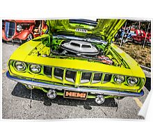 1970 Dodge Challenger American Muscle Car Poster