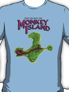 Monkey Island Map Retro DOS game fan shirt T-Shirt