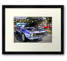 1968 Chevrolet Chevy Camaro SS American Muscle Car Framed Print