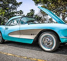 1957 Chevrolet Corvette Classic American Car  by Chris L Smith