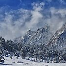 Rocky Mountain Dusting Of Snow Boulder Colorado by Bo Insogna
