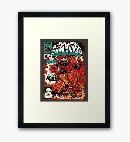 Samus Wars Framed Print