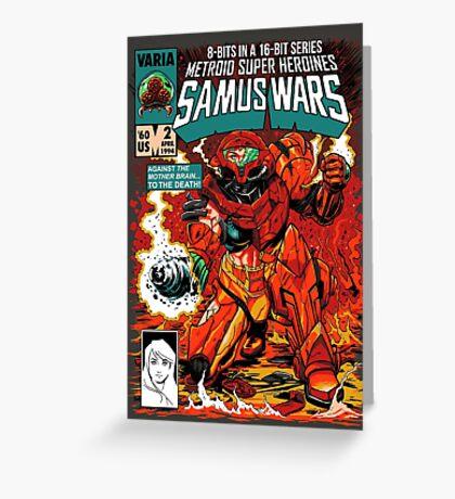 Samus Wars Greeting Card