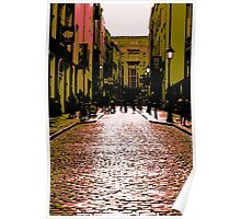 Cobbled Streets Of Old Poster