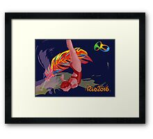 Unofficial Rio 2016 Olympics Diver Framed Print