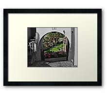 Italianate Garden Framed Print