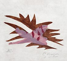 Braque, Georges, Le Feuille morte from Lettera amorosa, 1963 by masterworks