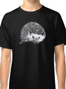 White Hedgehog Scratchboard Classic T-Shirt