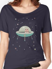 CAT IN SPACE SHIP Women's Relaxed Fit T-Shirt