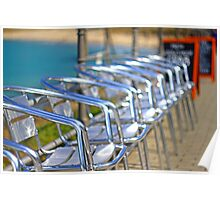 Helios Chairs - Chrome Alignment Poster