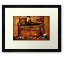 Carpentry - Tools - In my younger days  Framed Print