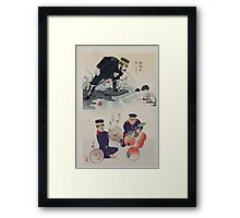 Humorous pictures showing Chinese military tactics 002 Framed Print