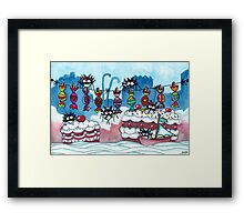 Welcome to Cake Country Framed Print